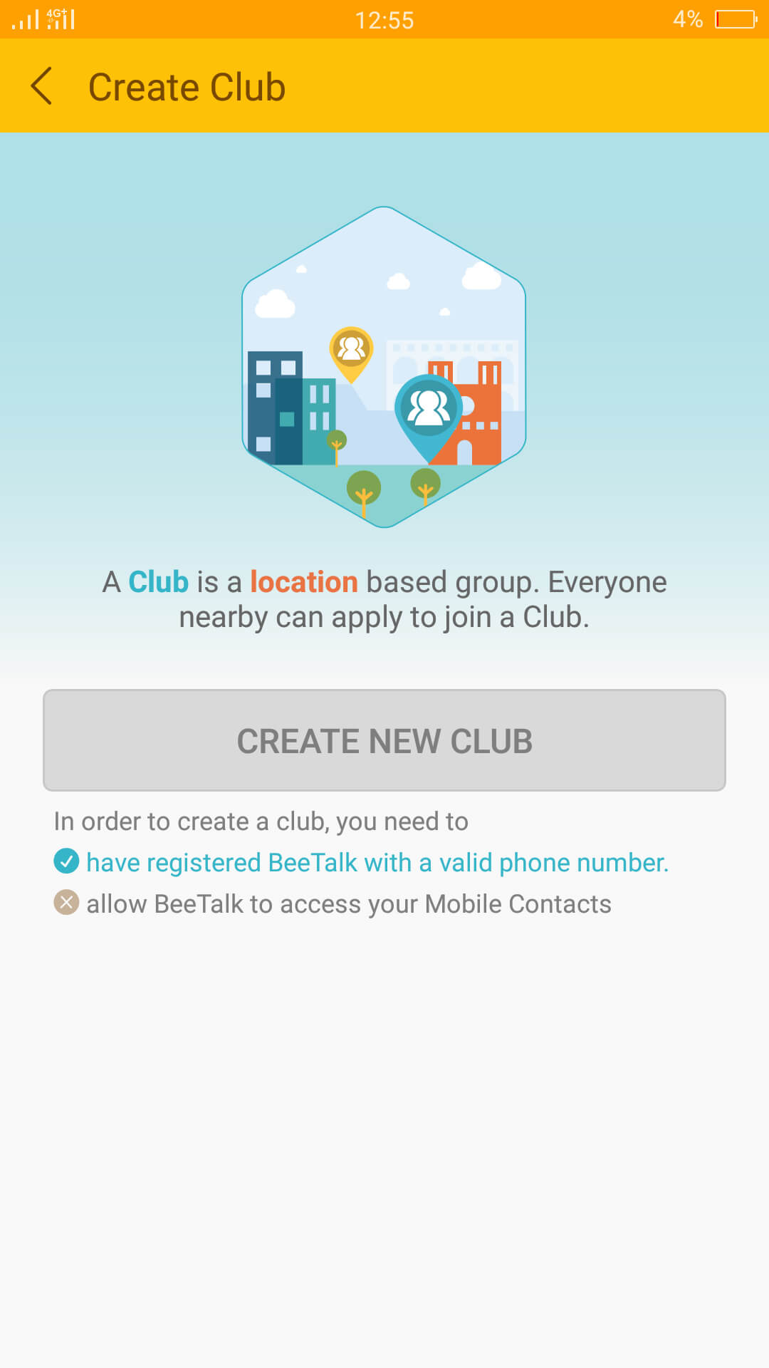 BeeTalk Club Feature