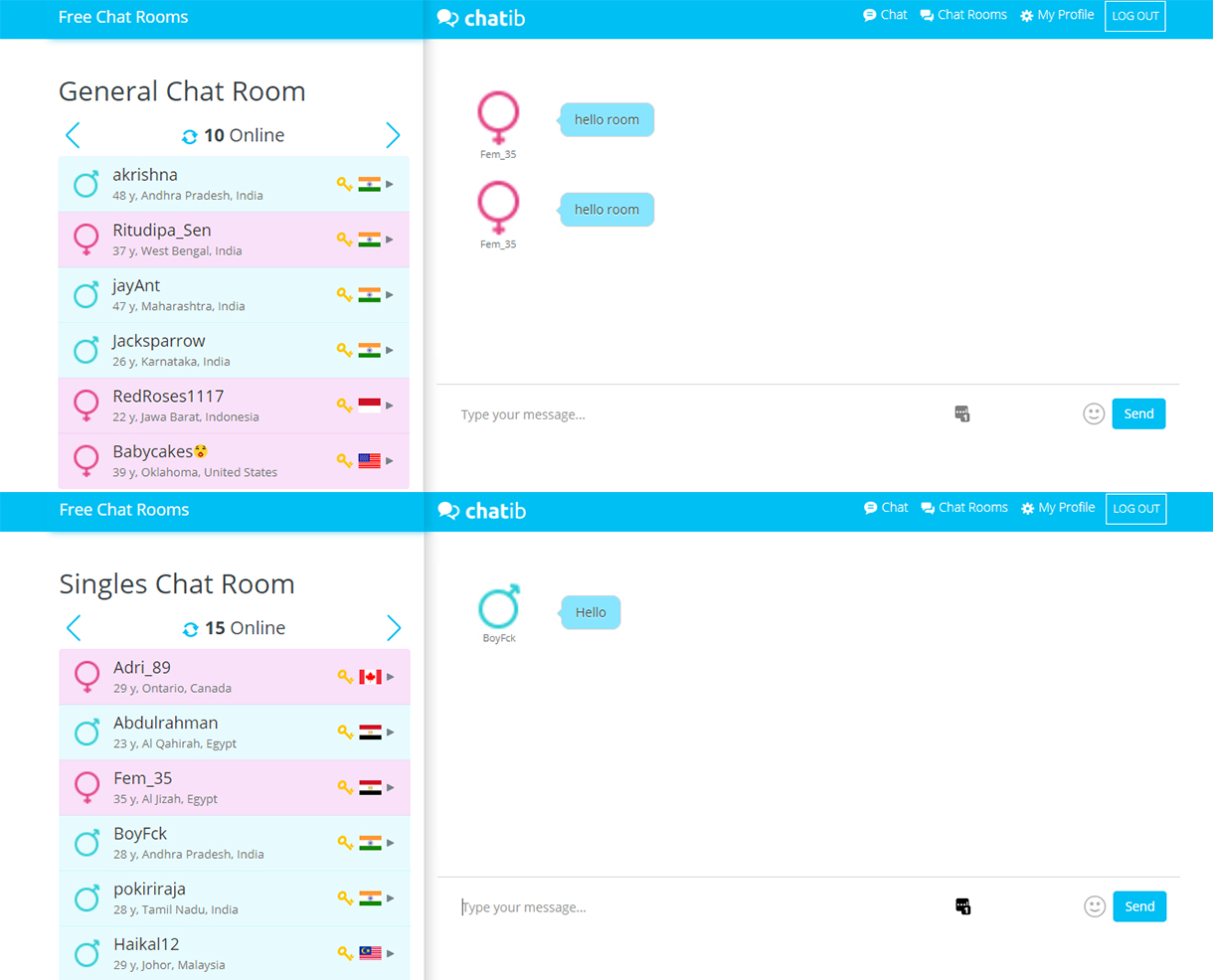Chatib Chat Rooms