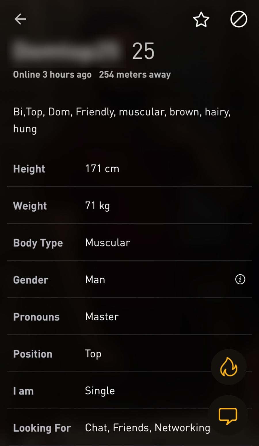 Grindr Male Profile
