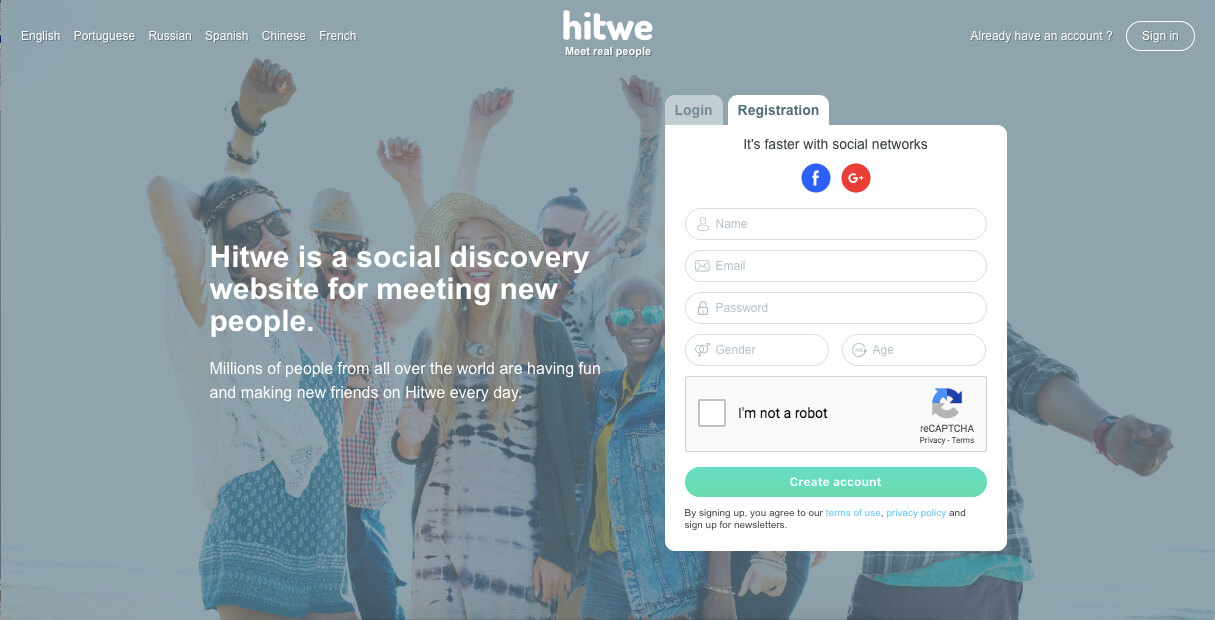 Hitwe Registration