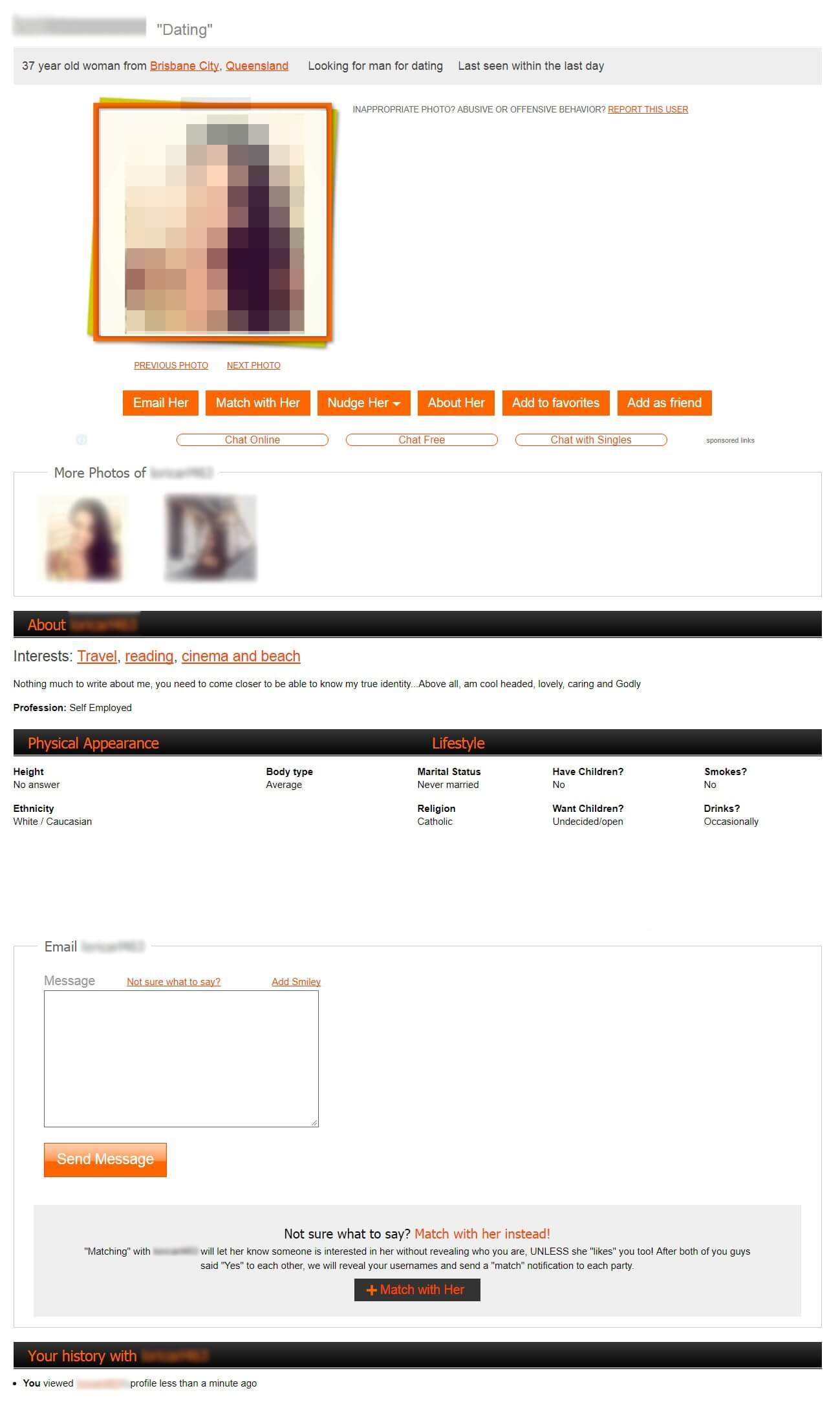 Mingle2 Profile