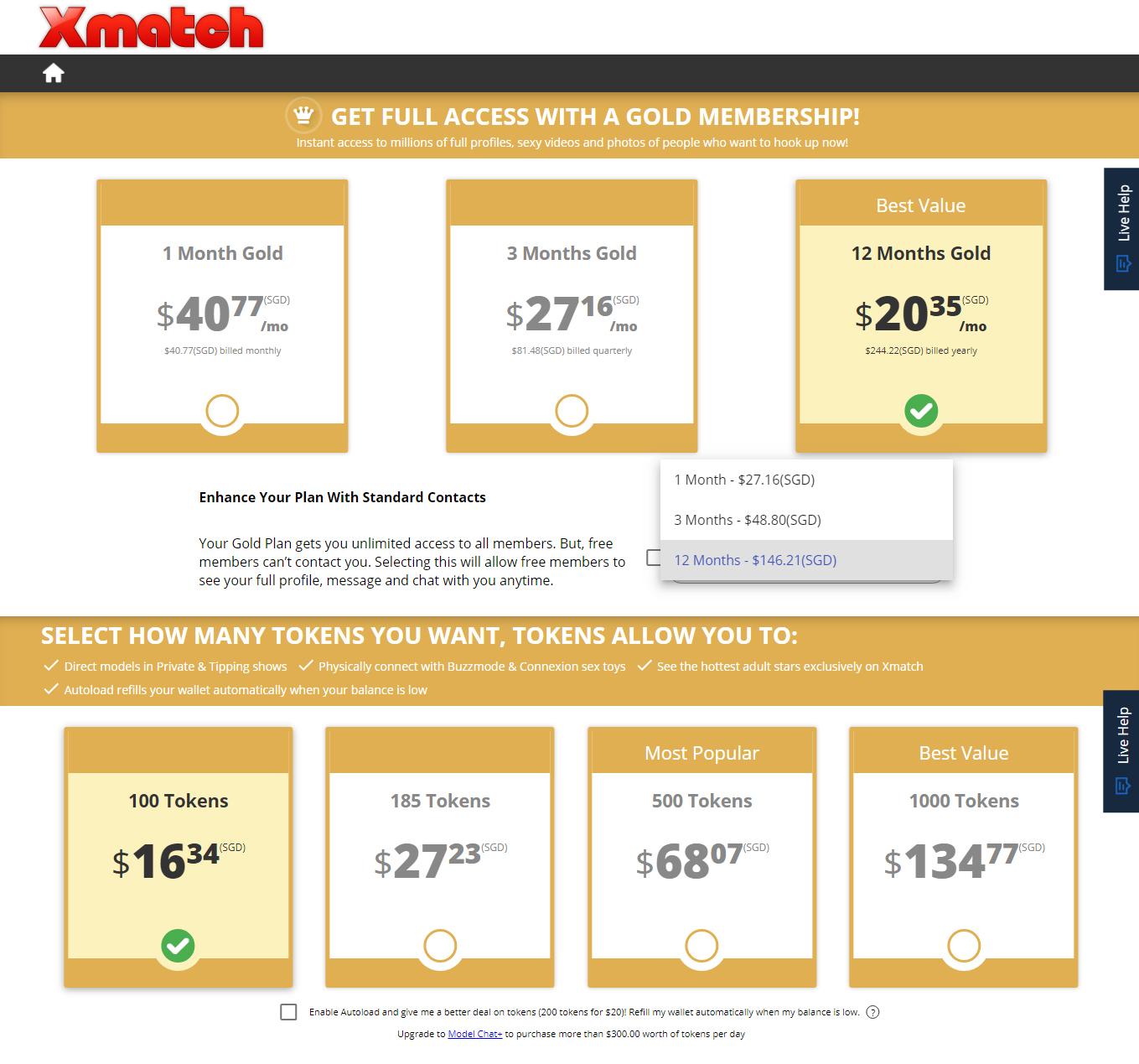 XMatch Price SG