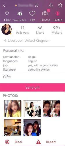 FastMeet Female Profile