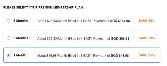 BiCupid SG Price
