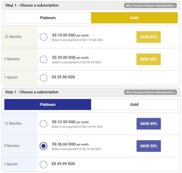 VietnamCupid Price Table