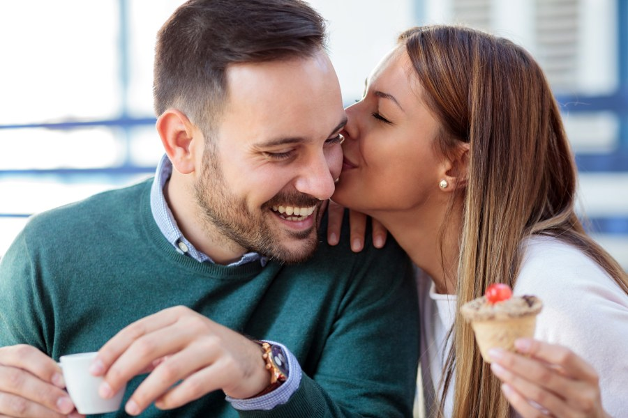 How to Compliment a Man Couple Kiss on Cheek