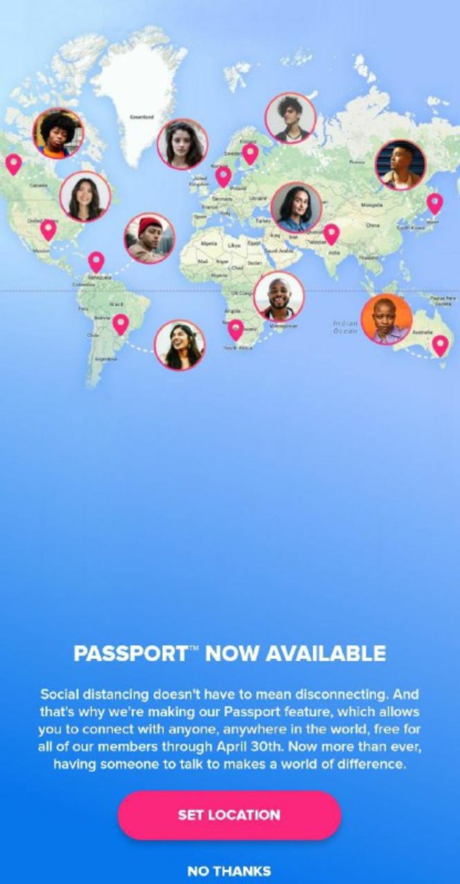 Tinder Passport
