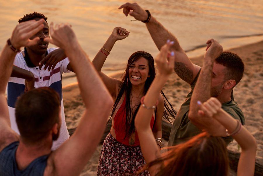 Latino Party at the Beach