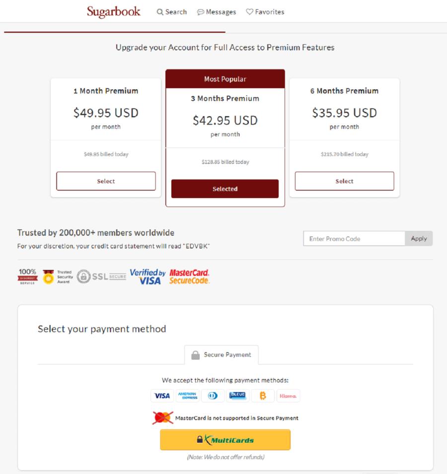 Sugarbook Premium Offers