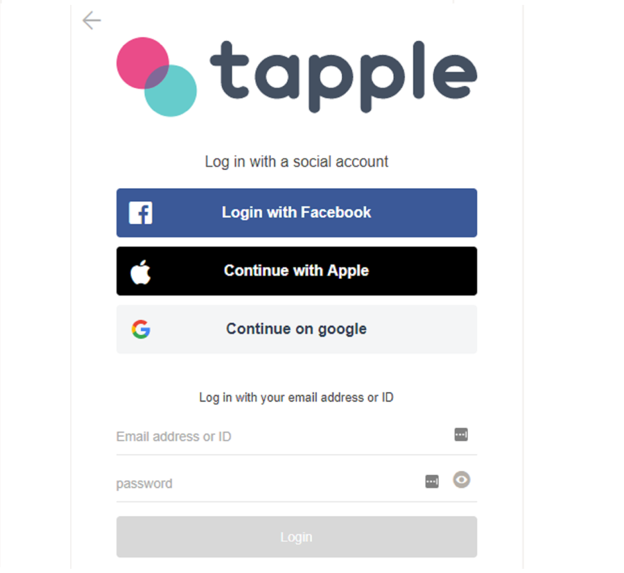 tapple-app-registration