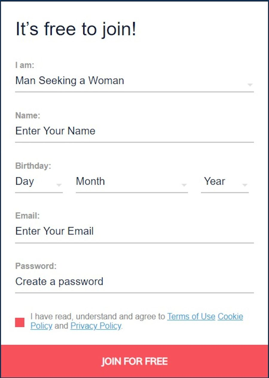 Valentime Sign Up