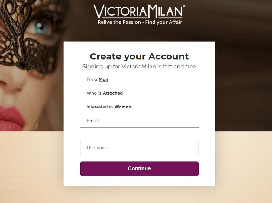 Victoria Milan Signing Up